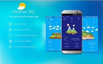 aplikasi weather 360 + widget & clocks