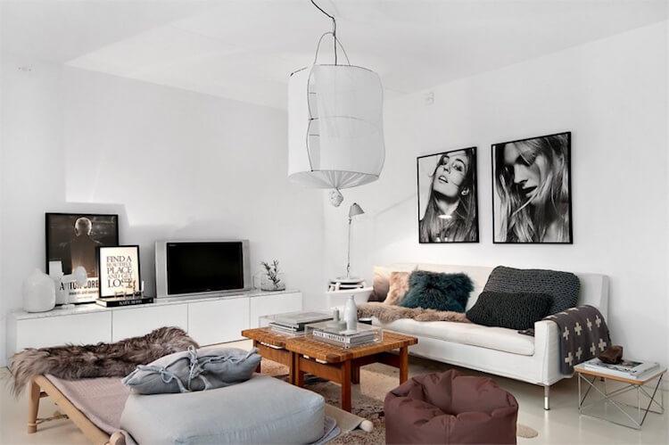 lámpara Kouski  decorando un salón