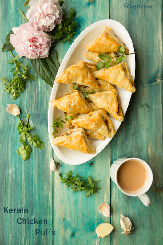 Kerala Chicken Puffs