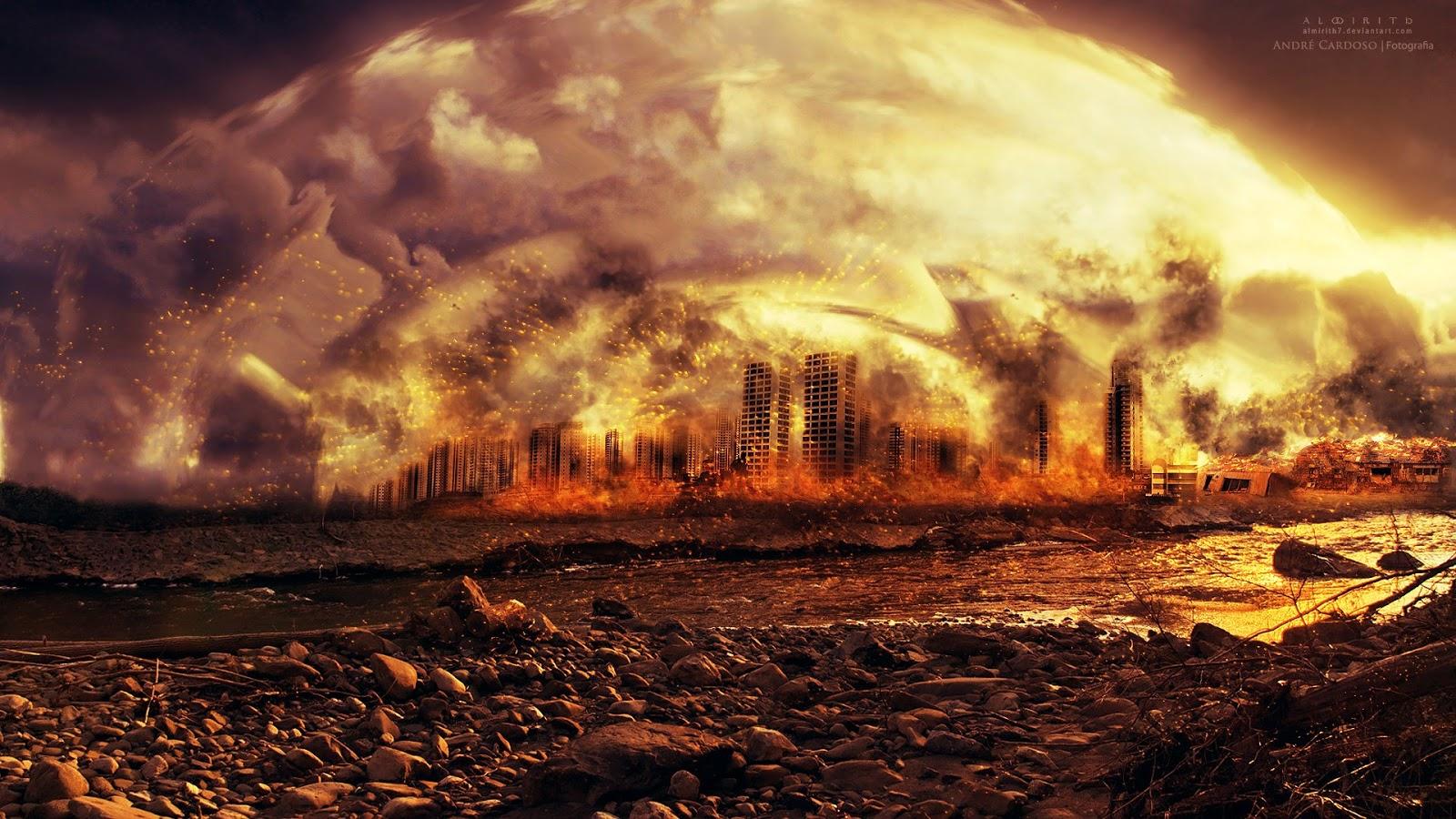 Cena ilustrativa do fim do mundo