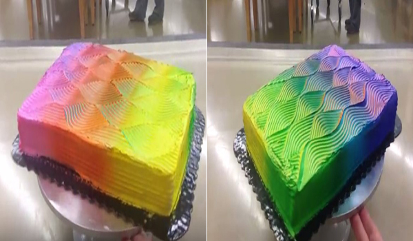 Mau Bikin Kue yang Bisa Berubah Warna Saat Diputar? Ini Caranya..