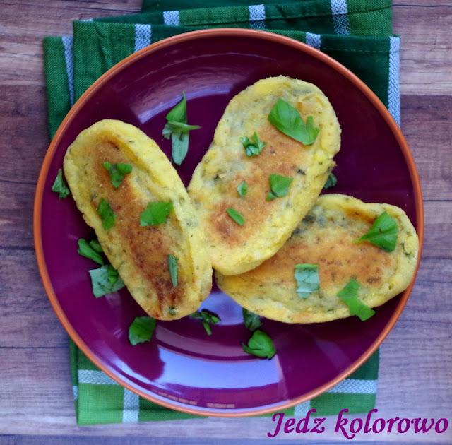 krokiety ziemniaczane z brokułami, bezglutenowe,wegańskie