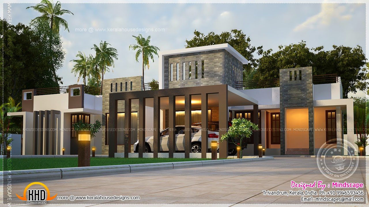 Proposed House In Trivandrum Modern Contemporary Home