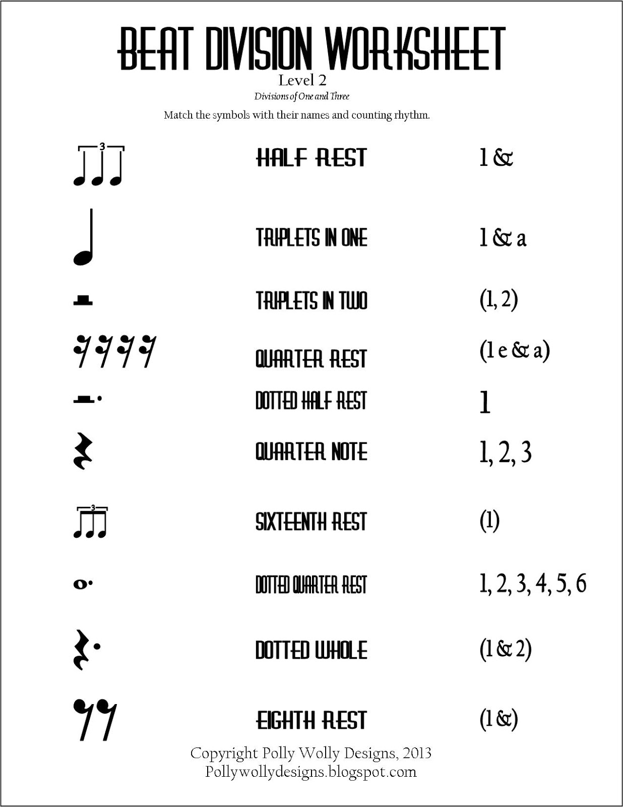 small resolution of Basic Rhythm Worksheets   Printable Worksheets and Activities for Teachers