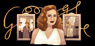 """جوجل تحتفل اليوم بذكري ميلاد الفنانة هند رستم """"مارلين مونرو الشرق"""" Hind Rostom's 87th Birthday"""