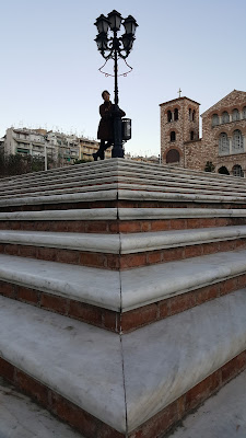 Perfect symmetry on the steps of St. Demetrius