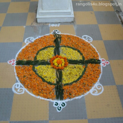Marathi New Year Rangolis