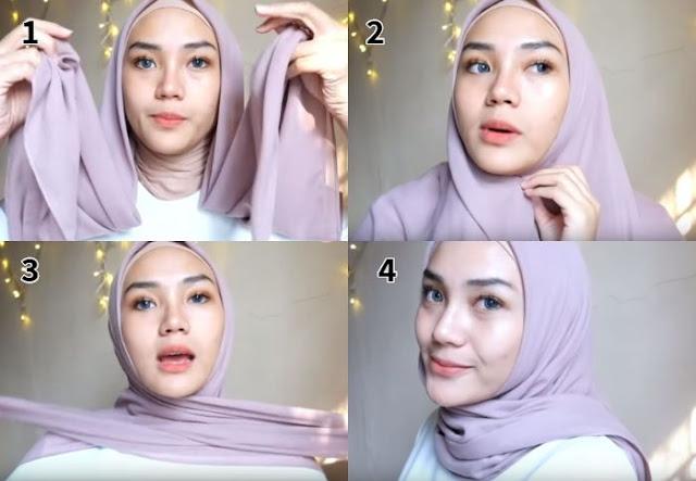 Model Hijab Segiempat 2019 terbaru