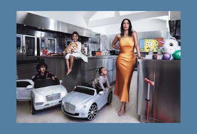 كيم كاردشيان تظهر فى مجلة Vegue من داخل منزلها