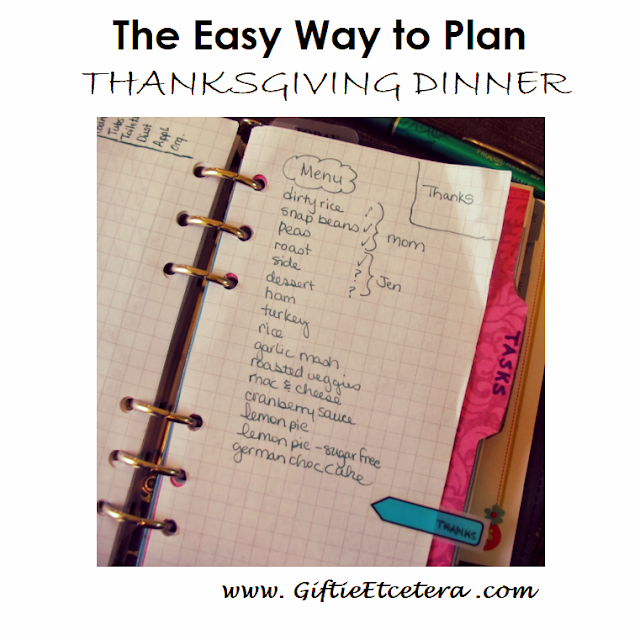 holiday menu, Thanksgiving menu, Thanksgiving plan on graph paper