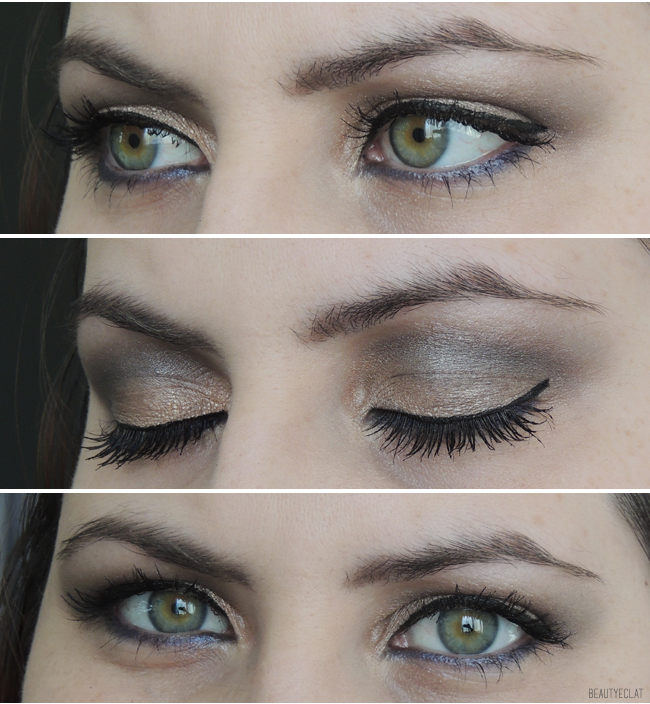 tutoriel maquillage neutre marron bleu pas à pas