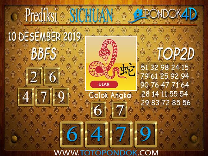 Prediksi Togel SICHUAN PONDOK4D 10 DESEMBER 2019