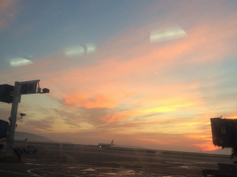 Sunrise in Athens International Airport - Ioanna's Notebook