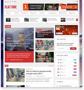 FlatOne - News WordPress Theme