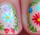 http://onceuponnails.blogspot.com/2016/03/flower-wreaths.html