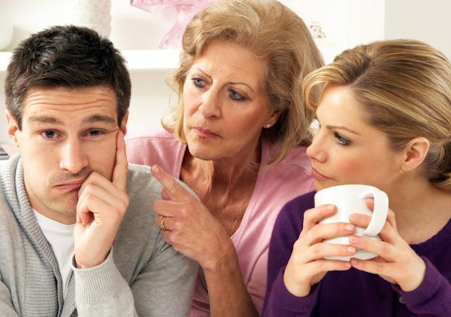 problemas de pareja, el involucramiento de la familia