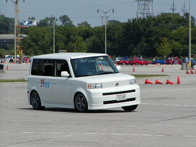 Autocrossing my xB at Miller Park in Milwaukee