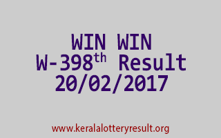 WIN WIN W 398 Lottery Results 20-02-2017