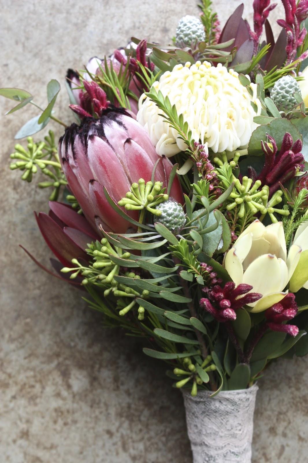 Swallows Nest Farm Waratah Wedding Bouquets