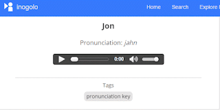 pronunciation key of instances