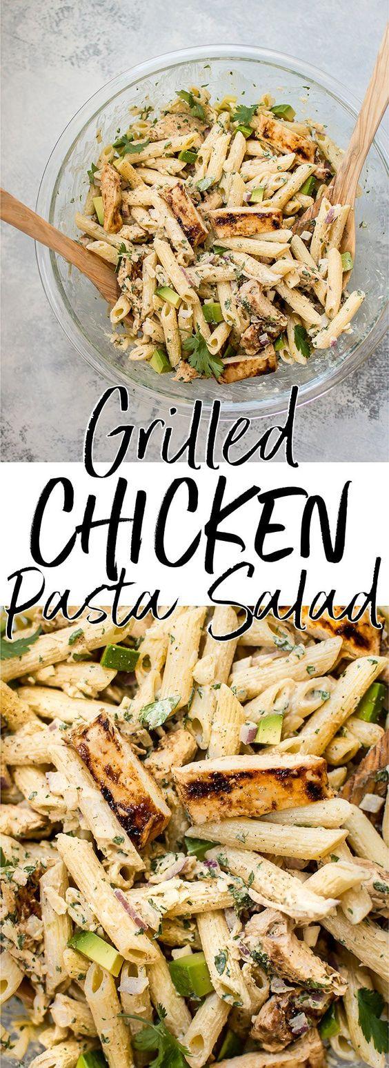 Grilled Chicken Pasta Salad #grilled #chicken #chickenrecipes #pasta #pastarecipes #salad