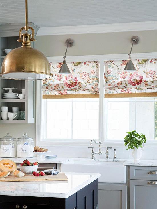 kitchen window treatments 2014 ideas 6