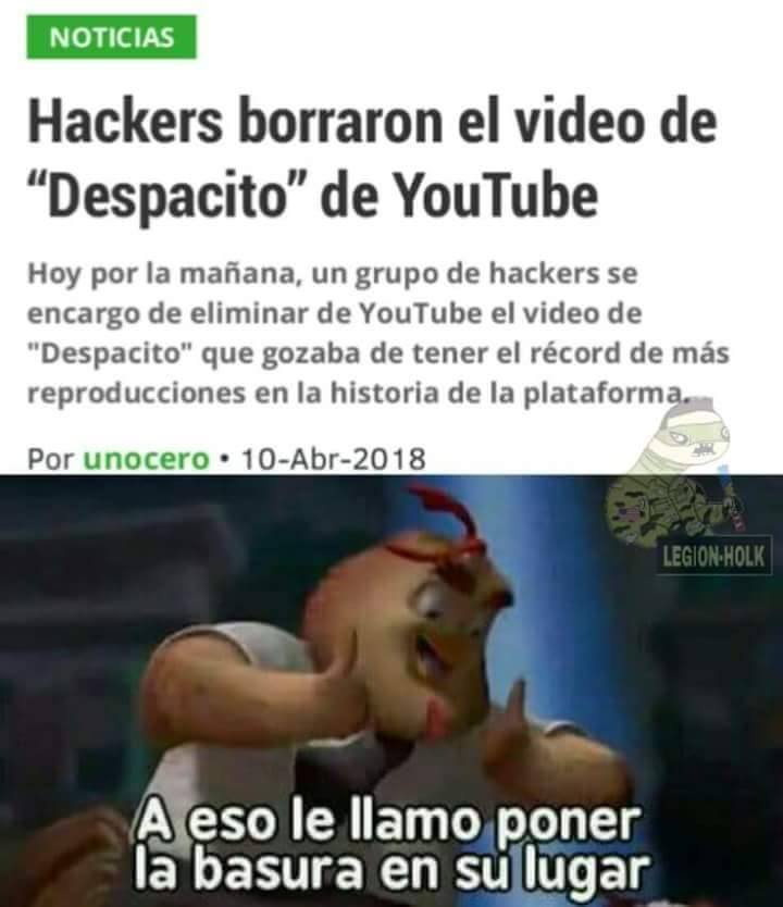 Hackers borraron el video de