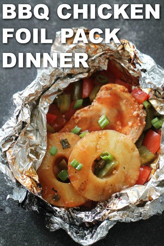 Pineapple Bbq Chicken Foil Pack Dinners