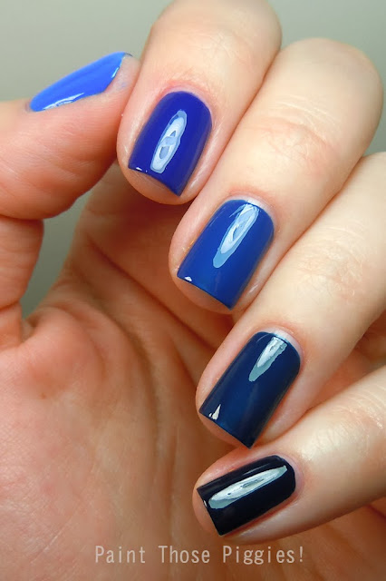 Paint Those Piggies!: Battle Ombre: Light Blues Vs. Dark ...