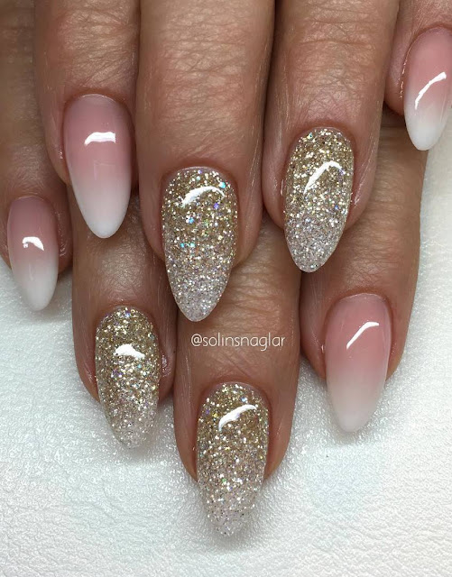 beautiful glitter and ombre design