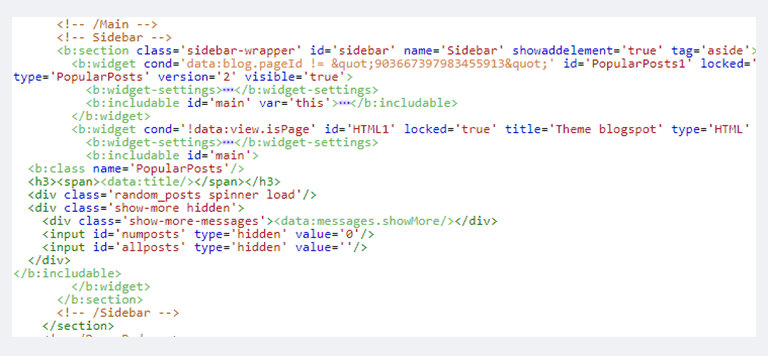 Cách sử dụng b:class và b:attr thêm thuộc tính vào thẻ b:widget