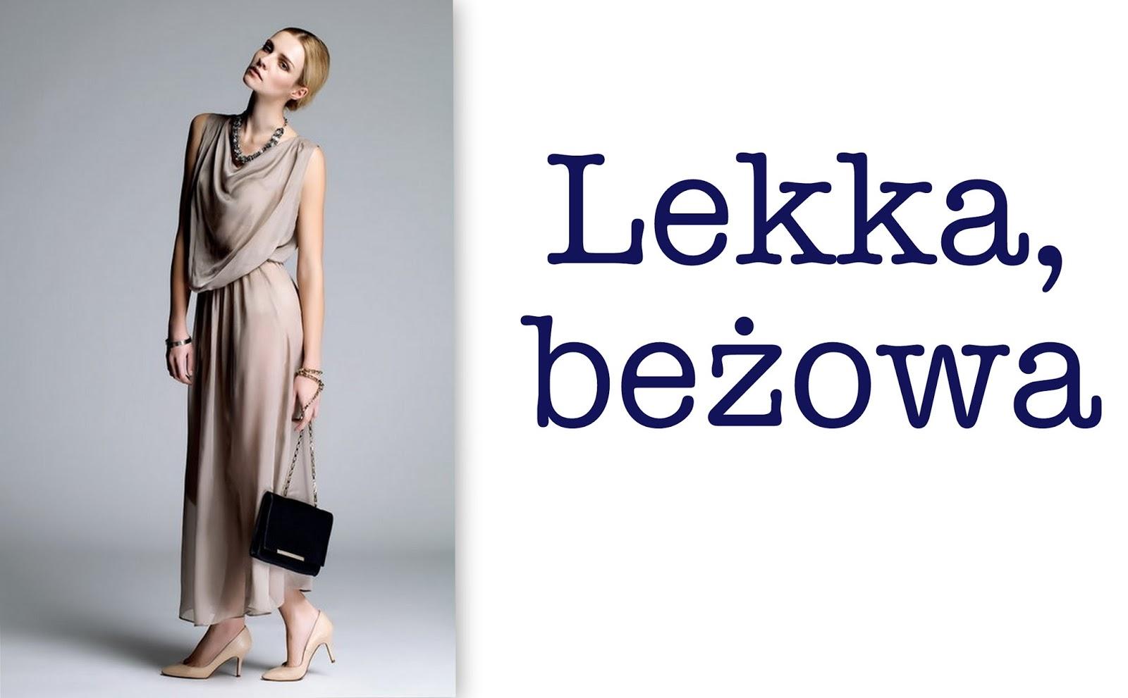 526cb73ab9 Długa sukienka z lekkiego materiału o bardzo ciekawej formie. Kolor  bezpieczny