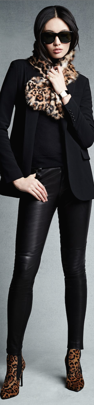 Black Label  Stretch-Leather Abbey Pant
