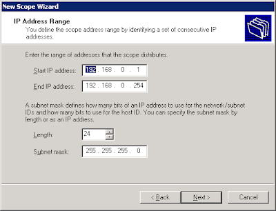 Configure DHCP Server in Windows server 2003