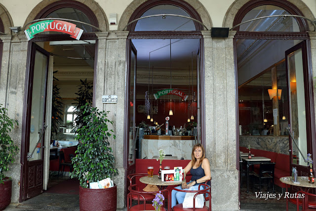 Café Viena, Plaza de la República. Braga, Portugal