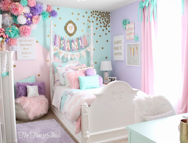 Sami says ag sami 39 s new pastel room for Recamaras infantiles famsa