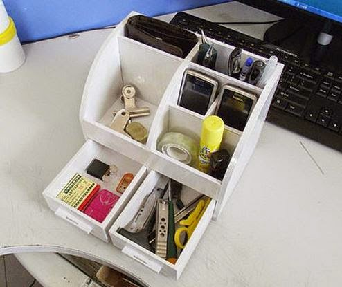 Diy Cardboard Desktop Organizer With Drawers