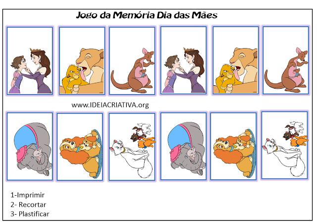 Jogo pedagógico para desenvolvimento da memória visual.
