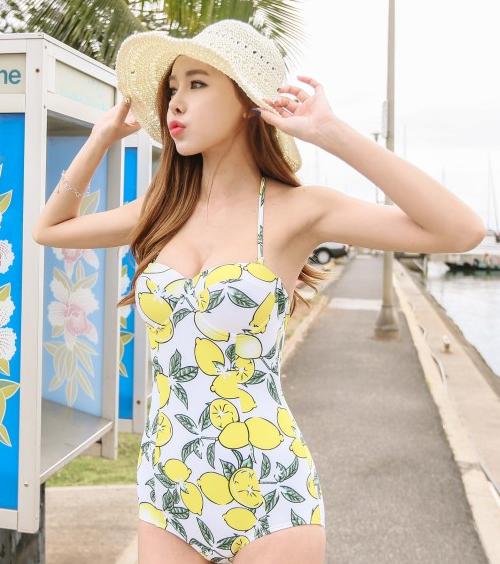 Lemon Print Monokini