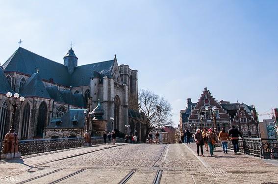 Iglesia de San Miguel en Gante en Belgica