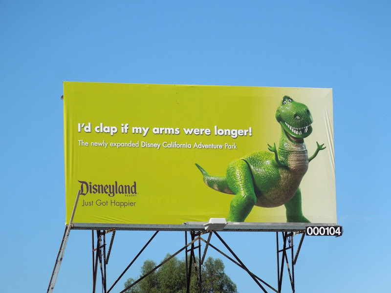 Toy Story Rex Disneyland billboard