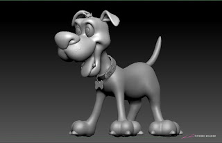 """Dog"" - Character design & 3D model by sculptor © Pierre Rouzier"