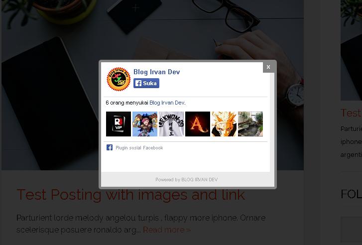Facebook like button widget