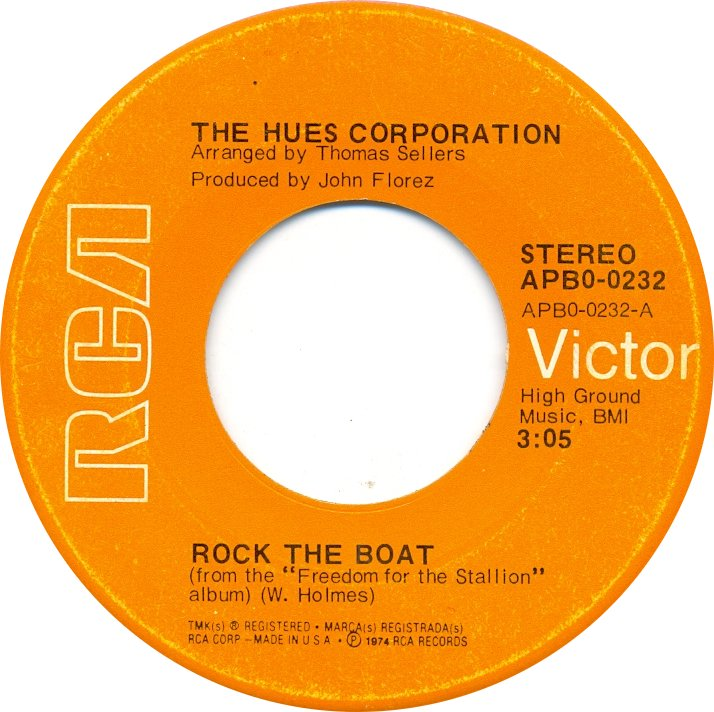 Ten Records A Song A Day The Hues Corporation Rock The Boat