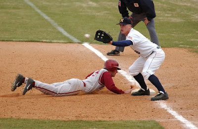 Baseball pick-off attempt