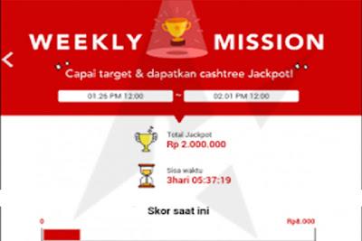 Cara Mendapatkan Banyak Pulsa Menggunakan Weekly Mission Cashtree