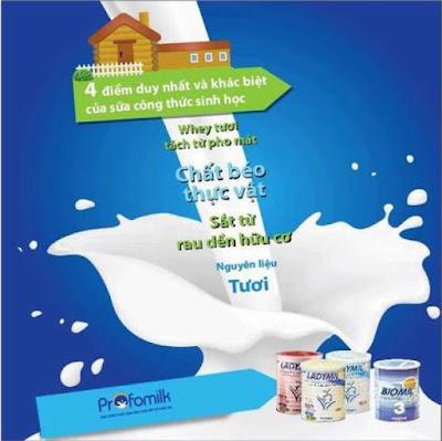 sữa công thức sinh học biomil