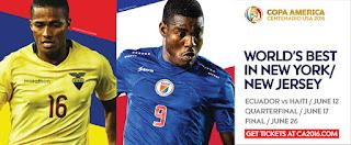 Ecuador vs Haití en Copa América Centenario