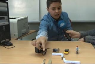 6. sınıf öğrencisi topladığı malzemelerden elektronik aletler üretiyor