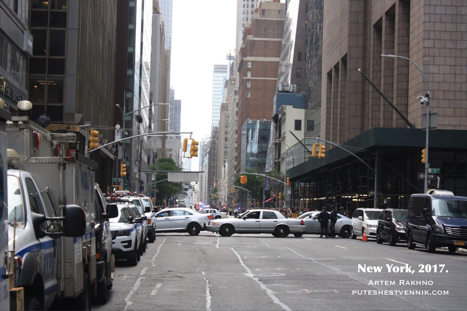 В Нью-Йорке перекрыли улицу